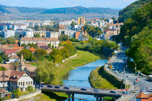 Fotografie, Obraz  Sighisoara cityscape, Romania