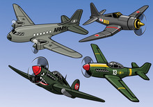 Collection Of Full Color World War 2 Military Aircraft
