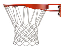 Basketball Hoop And Net Isolat...