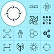 Machine Learning Icons Set. Collection Of Laptop Ventilator, Atomic Cpu, Radio Waves And Other Elements. Also Includes Symbols Such As Data, Loop, Robot.