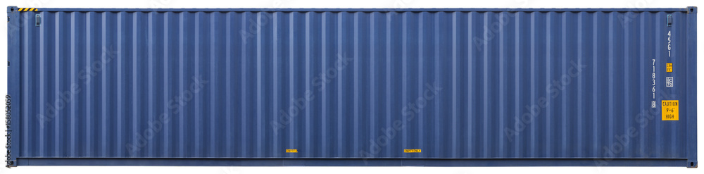 Fototapety, obrazy: Shipping container, isolated, front view