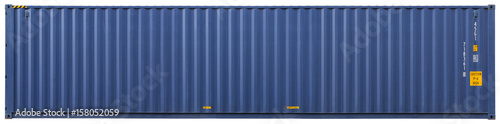 Aluminium Prints Port Shipping container, isolated, front view