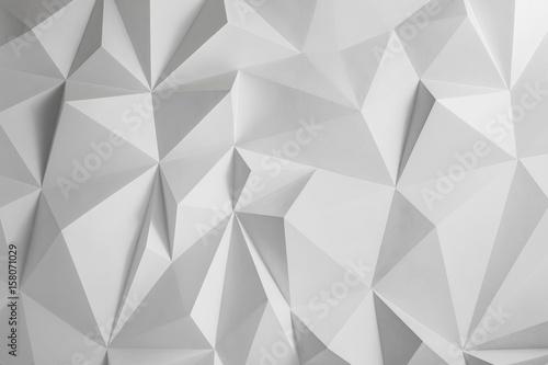 Abstrakcjonistyczny tło wieloboki na białym tle.