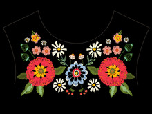 Embroidery Native Neckline Pat...