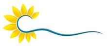 Sun Logo And Sea.
