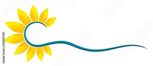 Fotografie, Obraz Sun Logo and sea.