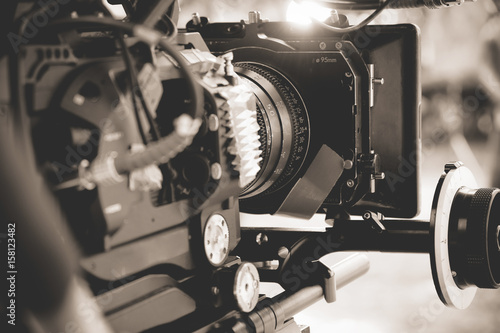 Fotografie, Obraz  detail of Professional digital video camera