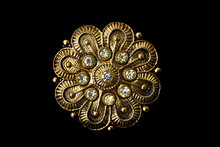 Gold Brooch With Stones