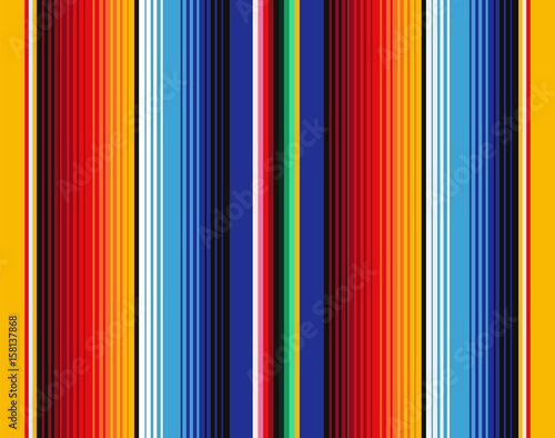Mexican Blanket Stripes Seamless Vector Pattern Wallpaper Mural