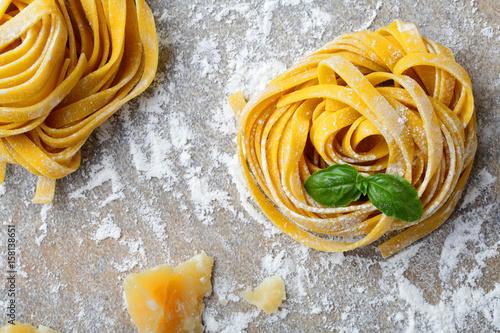 Italian pasta tagliatelle Fototapeta