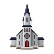Catholic Church Isolated On Wh...