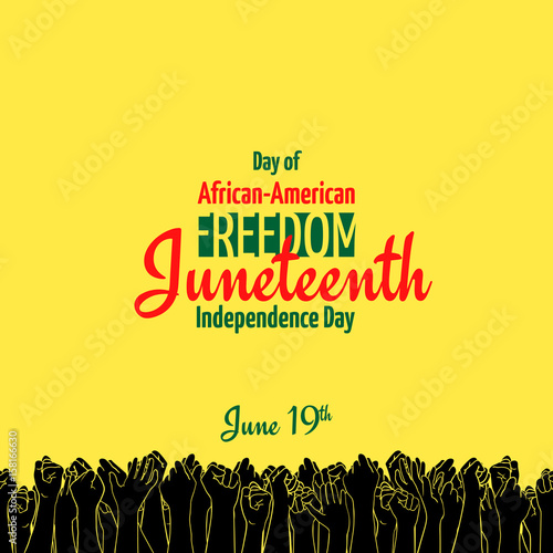 Juneteenth, African-American Independence Day, June 19 Wallpaper Mural