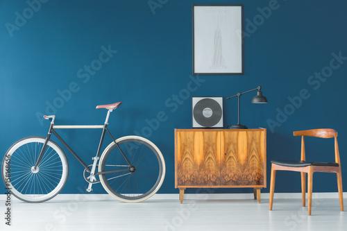beautiful-bike-on-blue-wall