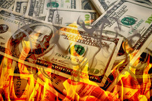 Crisis,dollars In Fire, Burnin...