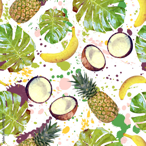 jednolite-wzor-z-tropikalnych-owocow-lisci-palmowych-i-spraye