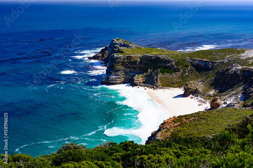 Cape of Good Hope South Africa near Cape Town seaside view with blue water, wave Fototapeta