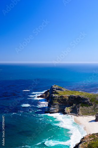 Cape of Good Hope South Africa near Cape Town seaside panoramic view towards the Canvas-taulu