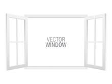 White Vector Window Template, ...