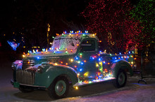 Christmas Lights On Old Chevy ...
