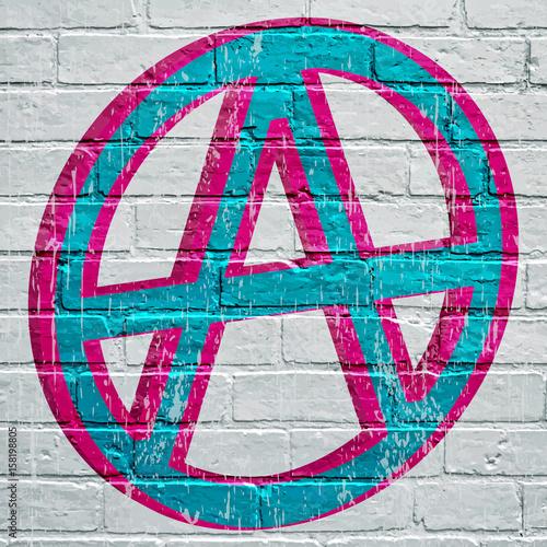 Fotografie, Obraz  Symbole anarchiste