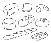 Set Of Bread Illustrations