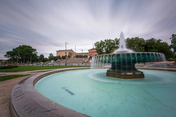 Fountain at Eakins Oval in Philadelphia, Pennsylvania.