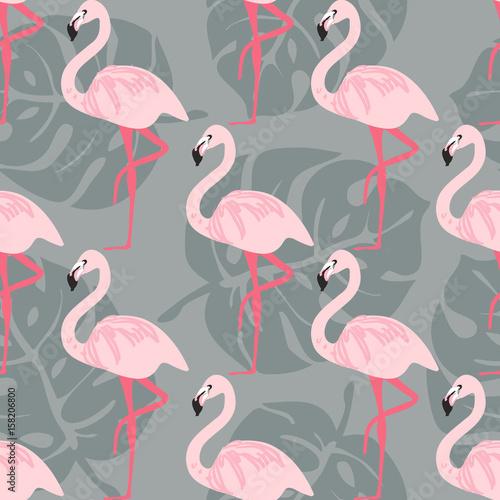 moda-bez-szwu-wektor-wzor-wzor-flamingo-tropikalny-ptak-i-lisc