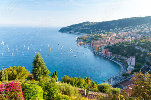 Deurstickers Nice View of luxury resort and bay of Cote d'Azur in France.