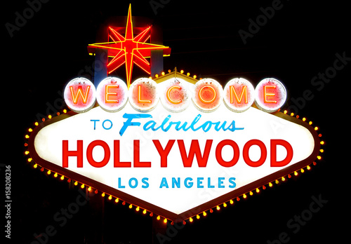 Welcome to Hollywood sign Wallpaper Mural
