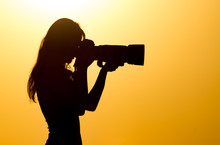 Silhouette Of A Girl Photograp...
