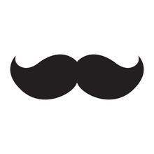 Isolated Icon Of A Mustache, V...
