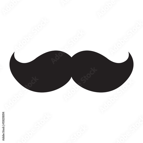 Isolated icon of a mustache, Vector illustration Wallpaper Mural