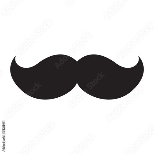 Obraz Isolated icon of a mustache, Vector illustration - fototapety do salonu