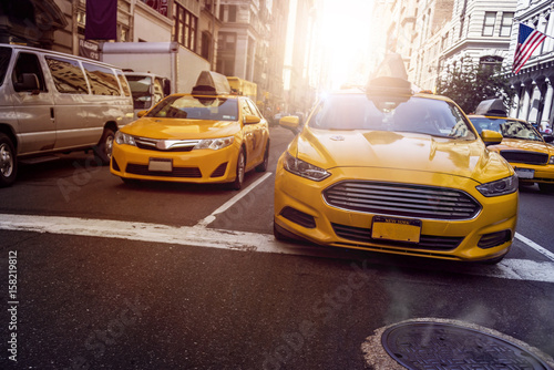 Photographie Yellow Cabs NYC