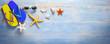Summer banner, holidays, vacation