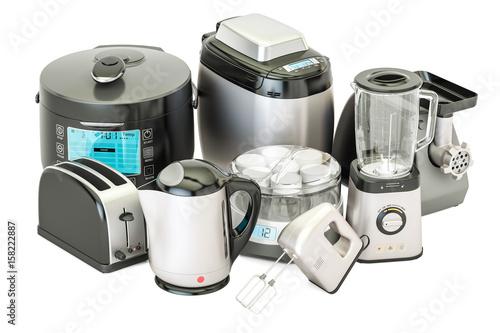 Set of kitchen home appliances Wallpaper Mural