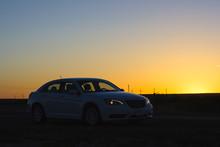 Chrysler In The Sunset