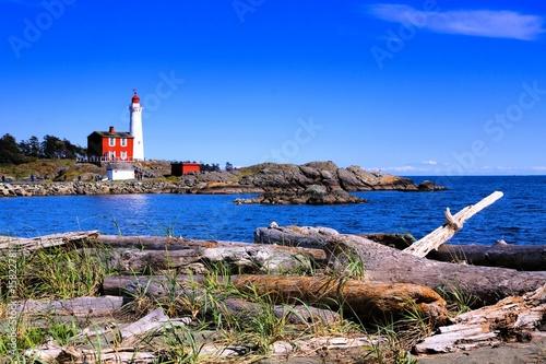 Garden Poster Fisgard Lighthouse National Historic Site along the Pacific coast near Victoria, BC, Canada