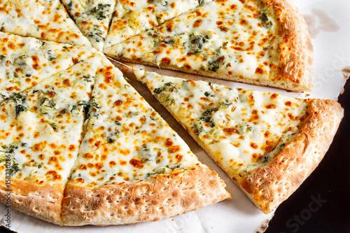 White Pizza Canvas Print