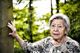 Fototapeta Łazienka - Senior Woman Outdoors 5