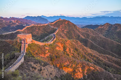 Photo sur Toile Muraille de Chine The dusk in Jinshanling Great Wall
