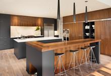 Kitchen In New Luxury Home Wit...