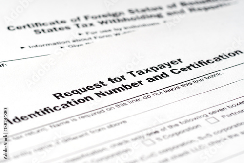 application form w-9, request for taxpayer identification number tin ...