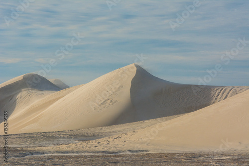 Poster UFO View of Lancelin Sand Dunes in Western Australia. This place for Surfing in Sand. Famous of Families enjoying. Landscape View