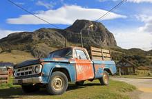 Old Classic Vintage Truck In El Chalten, Patagonia, Argentina