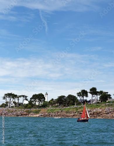 Fotografiet  Gréement sur littoral breton