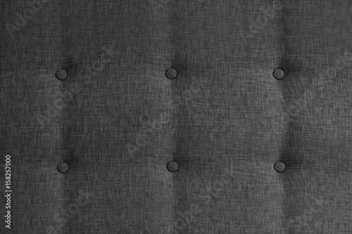 Closeup Of Grey Vintage Sofa Fabric Pattern With Buttons For Texture