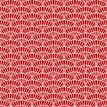 Japanese Red Seamless Pattern
