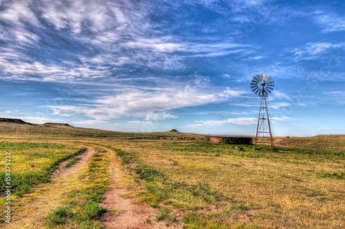 Foto op Canvas Texas Texas water well and windmill