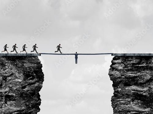 Leadership Bridge Canvas Print